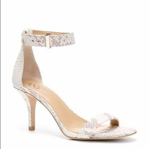 Ann Taylor Geri Ankle Strap Heel Snakeskin Sandal